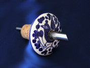 Italian Ceramic Pouring Cork Deruta, Olive Oil Ceramic Pouring Cork, Italian Ceramic Wine Cork Stopper