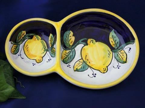 Deruta Lemons Olive Tray, Deruta Olive Tray