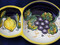 Deruta Lemons Grapes Olive Tray, Deruta Olive Tray