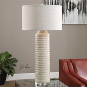 Tuscan Ceramic Ivory Lamp
