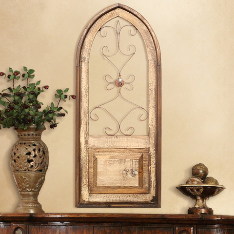 Architectural Window, Tuscan Arch Window Wall Decor