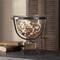 Tuscan Bowl, Glass Iron Pedestal Bowl