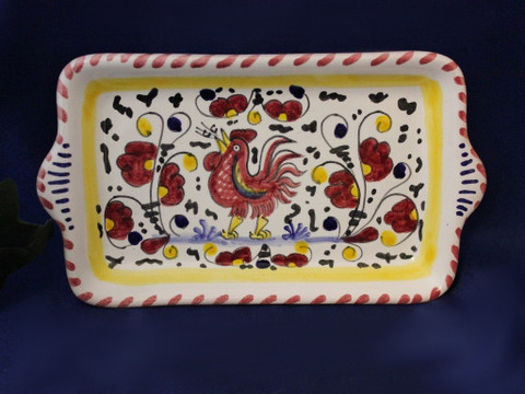 Gallo Rooster Tray, Deruta Orvieto Rooster Tray