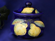 Deruta Lemon Garlic Jar, Garlic Pot