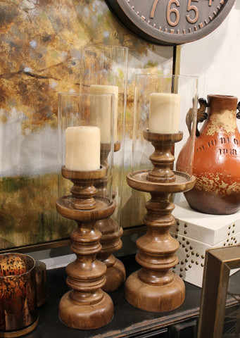 Tuscan Candle Holder, Hurricane