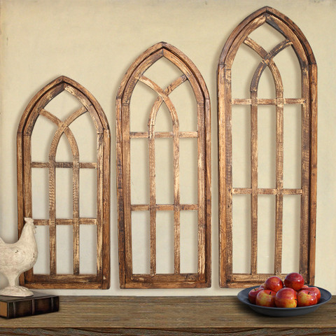 Architectural Windows, Tuscan Arch Window Wall Decor
