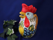 Italian Rooster Pitcher, Tuscan Lemons Grapes Rooster Pitcher, Tuscany Rooster Pitcher
