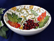 Tuscan Grapes Serving Bowl, Tuscany Serving Bowl