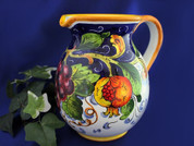 Italian Ceramic Pitcher, Tuscany Pitcher