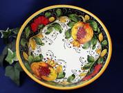 Tuscan Poppies Fruit Serving Bowl, Tuscany Serving Bowl