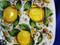 Tuscan Lemons Bees Serving Platter, Tuscan Lemons Bees Square Plate