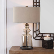 Tuscan Lamp, Amber Glass Table Lamp