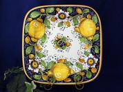 Tuscan Lemons Serving Platter, Tuscan Lemons Square Plate
