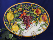 Tuscan Lemons Grapes Serving Platter