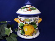 Tuscan Lemons Bees Biscotti Jar Canister