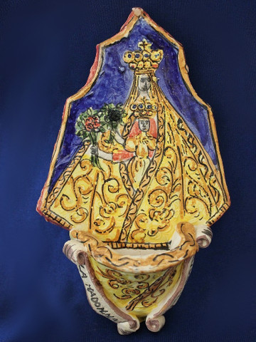 Italian Holy Water Font Madonna