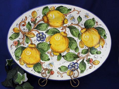 Tuscan Lemons Bees Serving Platter