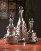Mercury Glass  Decanters