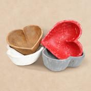 Heart Bowl, Wooden Heart Bowl, Dough Bowl