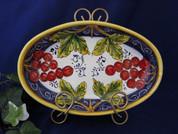 Tuscan Grapes Serving Dish