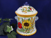 Tuscan Sunflowers Poppies Biscotti Jar Canister