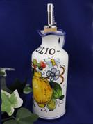 Tuscan Lemons Bees Olive Oil Bottle