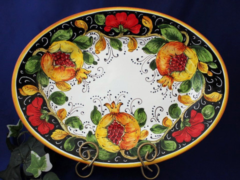 Tuscan Poppies Fruit Serving Platter