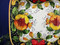 Tuscan Poppies Fruit Serving Platter, Tuscan Poppies Fruit Square Plate