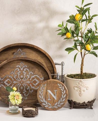Monogrammed Trivet, Tuscan Kitchen Trivet