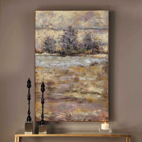 Lavender Trees Hand Painted Tuscan Wall Art