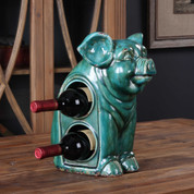 Ceramic Pig Wine Rack, Pig Wine Holder
