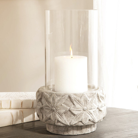 Concrete Candle Holder, Tuscan Hurricane
