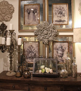 Tuscan Urn Wall Art, Architectural Artifacts Mirrored Wall Art