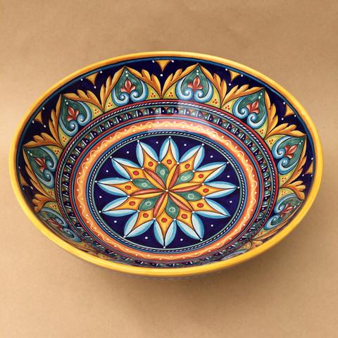 Deruta Geometrico Serving Bowl