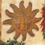 Clay Sun Face, Tuscan Sun Wall Decor