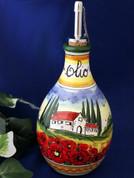 Tuscan Landscape Olive Oil Bottle