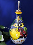 Tuscan Lemons Grapes Olive Oil Bottle