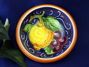 Tuscan Grapes Lemons Olive Oil Dipping Bowl