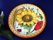 Tuscan Sunflowers Poppies Olive Oil Dipping Bowl