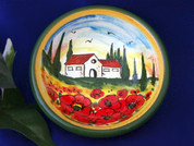 Tuscan Landscape Olive Oil Dipping Bowl