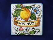 Italian Wall Tile, Italian Proverb Tile, Benvenuti, Welcome