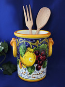 Italian Grapes Lemons Utensil Holder Wine Cooler