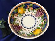 Tuscan Lemons Grapes Fruit Serving Bowl, Tuscany Serving Bowl