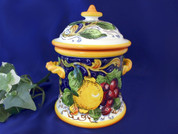 Tuscan Lemons Grapes Biscotti Jar Canister