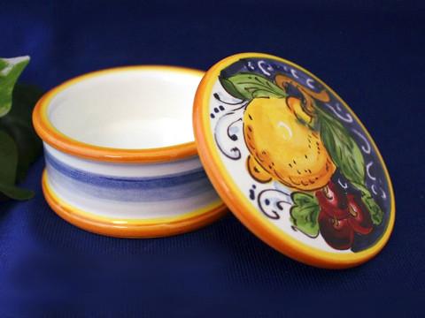 Italian Ceramic Trinket Box, Italian Ceramic Box