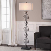 Tuscan Floor Lamp, Iron Scroll Floor Lamp