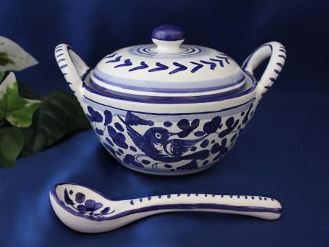 Deruta Arabesco Cheese Bowl, Deruta Arabesco Sugar Bowl