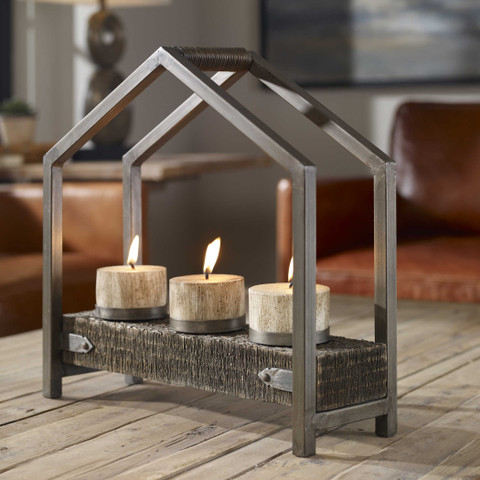 Tuscan Rustic Candle Holder