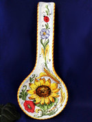 Tuscan Sunflowers Poppies Ladybugs Spoon Rest