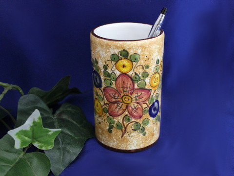 Deruta Pencil Holder, Deruta Pen Cup